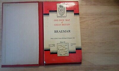 Map. Ordnance Survey, One-Inch Map of Great Britain, Braemar, Sheet 41, HB