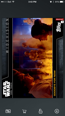 Topps Star Wars Card Trader Insert, Widevision, Goodbye For Now, 3,000cc!