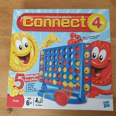 Connect 4 Classic Grid Board Game Hasbro Four In A Row