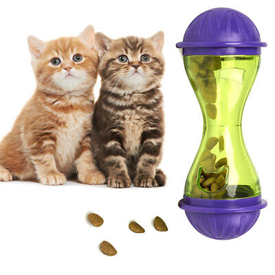 Cat Feeder Plastic Funny Pet Food Dispenser Treat Ball Puppy Leakage Food Toy US