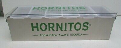 Hornitos Tequila 6 Compartment Cocktail/ Bar Garnish Tray Stainless Steel New