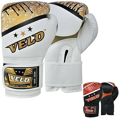 VELO Microfiber Leather Boxing Gloves Fight Punch Bag MMA Muay thai Sparring