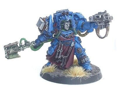 Gw 40K Space Marine Librarian In Terminator Armour. Painted. Black 39
