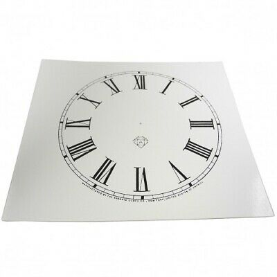 NEW White Card Paper Replacement Clock Dial 125mm Roman Numerals - CD52