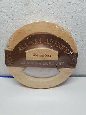 Alaskan ULU Knife Chopping Bowl Set New in Package