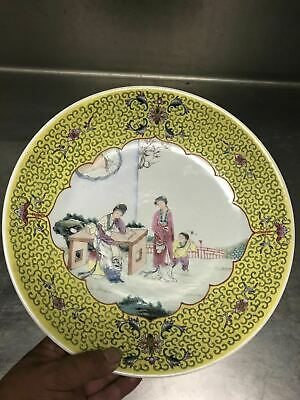 20C Chinese Famille Rose Porcelain Big Plate