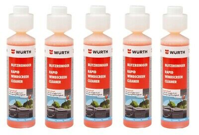 5x NEW Wurth SUMMER RAPID Screen Cleaner Screenwash Concentrate 250ml 0892333250