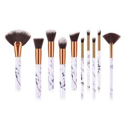 10pcs Professional Makeup Brush Set Foundation Blusher Cosmetic Make Up Brushes