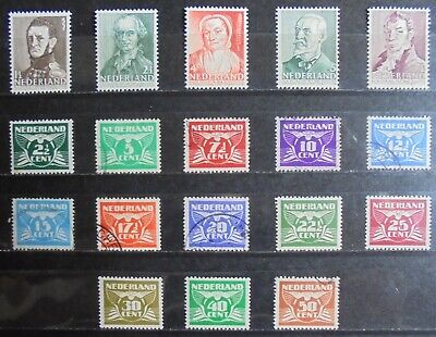 NETHERLANDS 1941 Complete Issues 18 m/h & Used