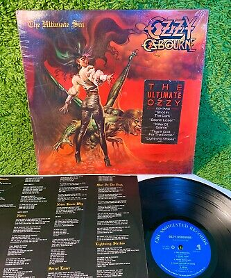 OZZY OSBOURNE ULTIMATE SIN 1986 •true 1st press• SHRINK heavy metal HYPE +INNER