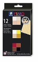 Professional Doll Clay art by FIMO colour pack 12 half blocks