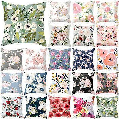 Rose Peony Flower Floral Throw Pillow Case Cushion Cover Home Sofa Decor 18''