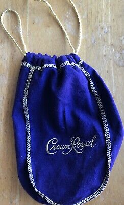 "CROWN ROYAL PURPLE BAG 9"" WITH DRAW STRING -  new, no alcohol"