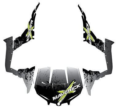 Can-Am 2017 Maverick X3 Decal Side Rear Left 704906264 New OEM
