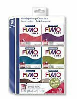FIMO Modelling Clay Soft pack earth colours