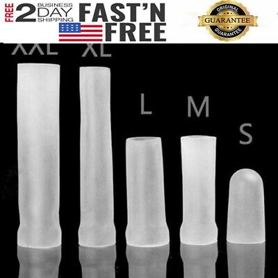 Male Penis Pump Replacement Condom Sleeve Girth Enlarger Enlargement Extender