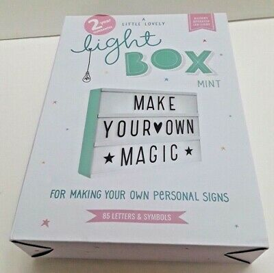 A Little Lovely Company Lightbox 85 Letters 85 Pastel Letters and Symbols A4