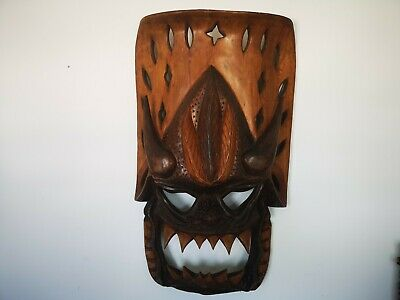 Wooden Head Hunters Of Philippines Dragon Demon Mask