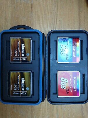 4 x Compact Flash memory cards & carry case