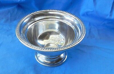 """VTG STERLING SILVER PEDESTAL COMPOTE CANDY BOWL DISH 4.5""""  60 grams Not Weighted"""