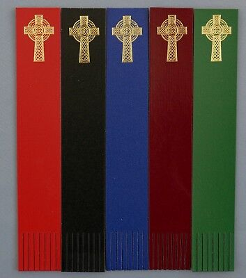 Bookmarks CELTIC CROSS Gold foil blocked on Leather Ideal Gift/Keepsake