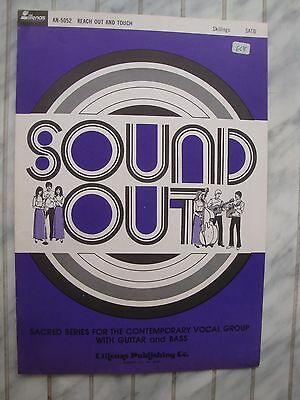 Reach Out And Touch - Soul - 1971 - Otis Skillings - Orig. Musiknote Für Band