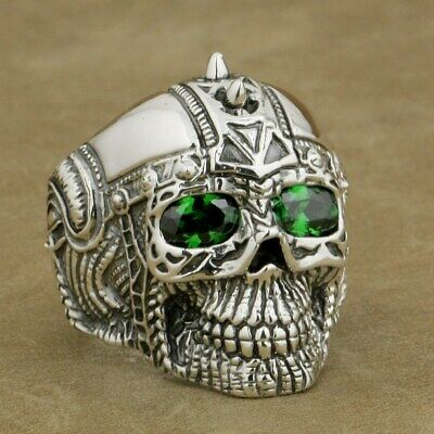 69e4cdf35eeaf SKULL & ROSE Tattoo 925 Sterling Silver Band Ring Gothic Designer ...