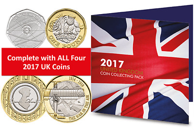 Royal Mint 2017 Brilliant Uncirculated UK Coin Collecting Pack Sealed