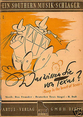 Don Swander - Was Wissen Sie Von Texas - Deep In The Heart Of Texas - 1941/43