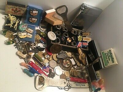 Old Estate Junk Drawer Wholesale Lot Sterling Silver Rings Knives Masonic (120)