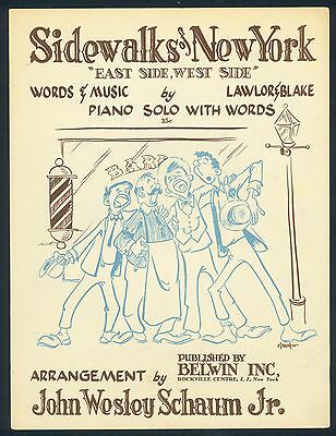 Sidewalks Of New York - Lawlor & Blake - 1950 - Orig. Musiknote