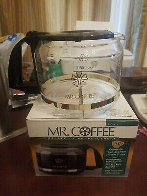 Mr. Coffee Replacement Coffee Pot~10-12 Cup Carafe Black Glass PD15 Never Used
