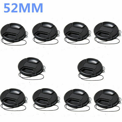 10 PCS! 52mm Center Pinch Snap-on Lens Cover Camera Case For Canon Nikon Sony