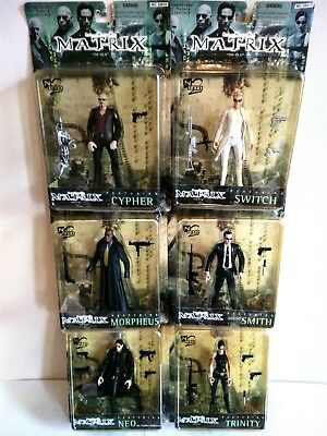 Série 6 Figurines Matrix Warner Bros. Toy ©1999 Neo Trinity Morpheus Agent Smith