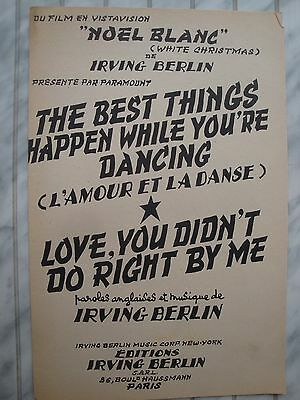 The Best Things Happen While You're Dancing - L'amour Et La Danse Irving Berlin