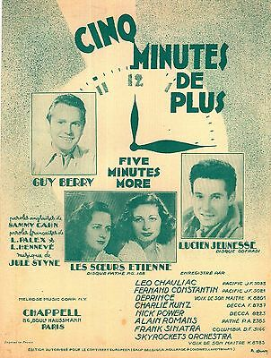 Jules Styne - Five Minutes More - Cinq Minutes De Plus - 1956 - Guy Berry