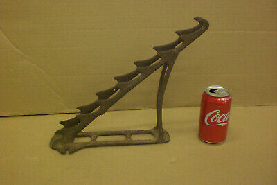 Antique Cast Iron Hardware Tool Hanger Wall Bracket Vintage Horse Tack Holder