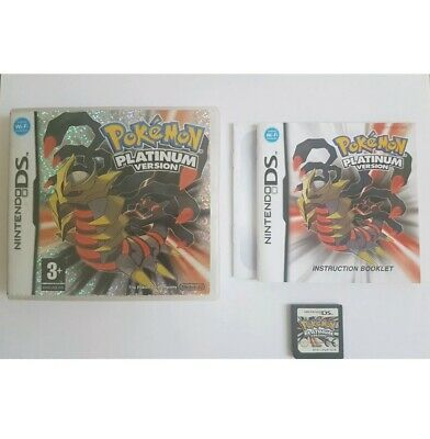 Nintendo DS Pal Game POKEMON PLATINUM VERSION with Box Manual