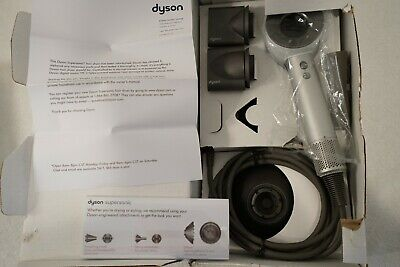 Brand New Dyson Supersonic Hair Dryer White Silver W All Attachments Hd01 2019!!