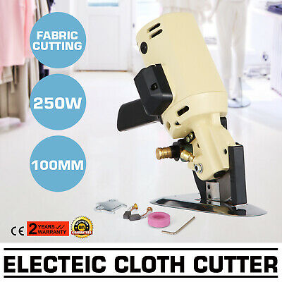 "100mm Electric Cloth Cutter Fabric Cutting Machine Hand-Held Octa Round 4"" Blade"