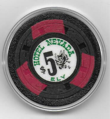 Obsolete $5 Casino Chip From HOTEL NEVADA-Ely, Nv.-CG052658-1962 Issue