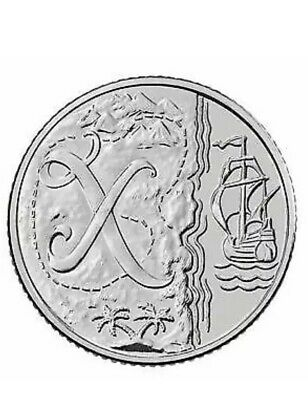 A-Z (2019) ALPHABET 10p COIN - LETTER (X) - X Marks the Spot  UNCIRCULATED