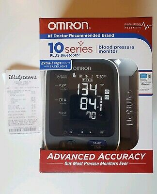 Omron 10 Series Upper Arm Blood Pressure Monitor with Bluetooth Model BP786 NEW