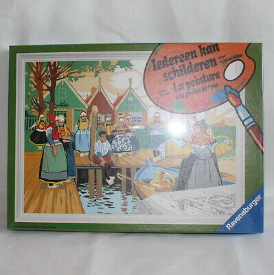 RAVENSBURGER Paint By Numbers Old Dutch Scene Vintage Brand New Sealed MISB