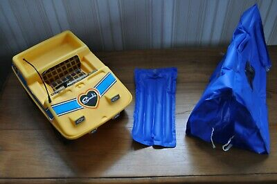 Vintage 1970s Sindy Doll Camper Buggy, with Foldaway Tent & Sleeping Bag.