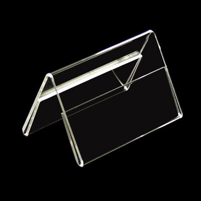 12 Stand Roof Shape Name Badge Price Display 2x90 mm B 55 mm H New (798)