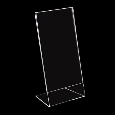12 x Stand Holder for Price Sign 10x21cm Din Long New (101046)