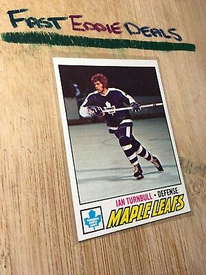Topps Hockey 1977-78 Ian Turnbull Card # 186 Toronto Maple Leafs Excellent