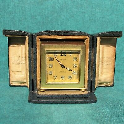 ZENITH Vintage 8 Days Table Clock Watch With Case Reloj Horloge Orologio Swiss