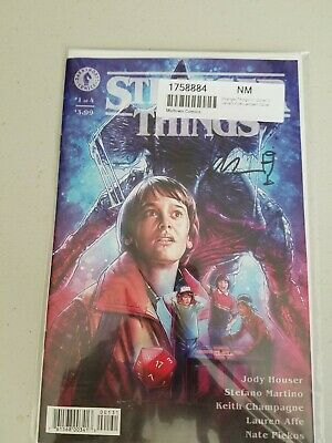 Stranger Things #1 Cover C Variant Lambert Signed by Keith Champagne